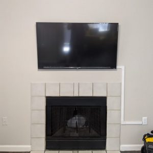 85008 tv mount above fireplace with cord cover 2